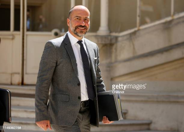 Uber CEO Dara Khosrowshahi arrives to attend the Tech for Good Summit at Hotel de Marigny on May 15 2019 in Paris France The second edition of the...