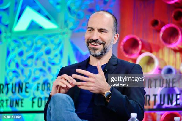 Uber CEO Dara Khosrowshahi attends Fortune Most Powerful Women Summit 2018 at Ritz Carlton Hotel on October 3 2018 in Laguna Niguel California