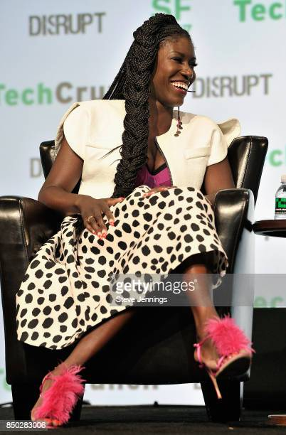 Uber Chief Brand Officer Bozoma Saint John speaks onstage during TechCrunch Disrupt SF 2017 at Pier 48 on September 20 2017 in San Francisco...