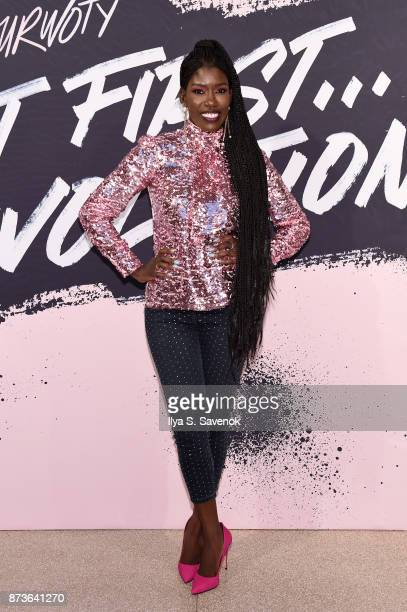 Uber Chier Brand Officer Bozoma Saint John poses during Glamour Celebrates 2017 Women Of The Year Live Summit at Brooklyn Museum on November 13 2017...