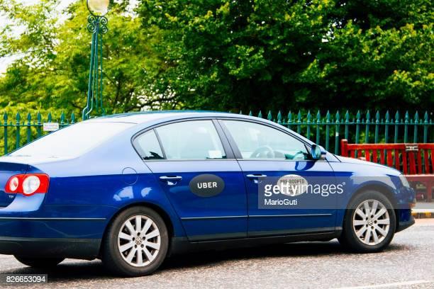 Uber taxi à Édimbourg