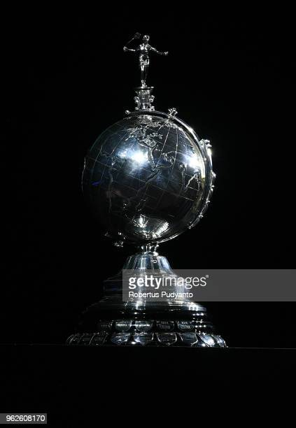 Uber trophy is displayed during the Finals match between Thailand and Japan on day seven of the BWF Thomas Uber Cup at Impact Arena on May 26 2018 in...
