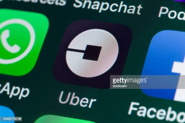 Uber, Whatsapp, Facebook and other Apps on iPhone screen