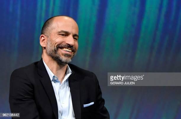 Uber's CEO Dara Khosrowshahi smiles at the VivaTech trade fair in Paris on May 24 2018