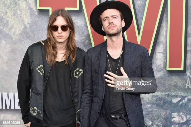 Uberto Rapisardi and Finn Andrews attend the World Premiere Of Showtime's Twin Peaks Arrivals at The Theatre at Ace Hotel on May 19 2017 in Los...