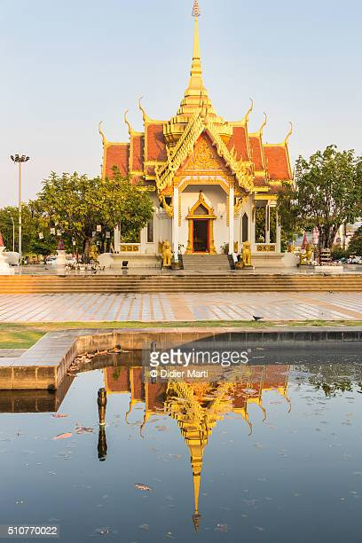 ubon ratchatani temple reflection - didier marti stock photos and pictures