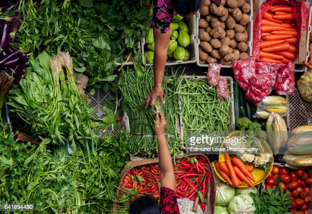 ubud, bali traditional public market - farmers market stock pictures, royalty-free photos & images
