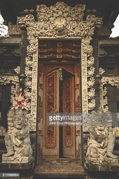 ubud doorway - balinese culture stock pictures, royalty-free photos & images