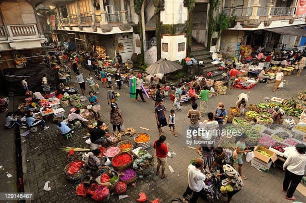ubud market in bali - indonesia stock photos and pictures