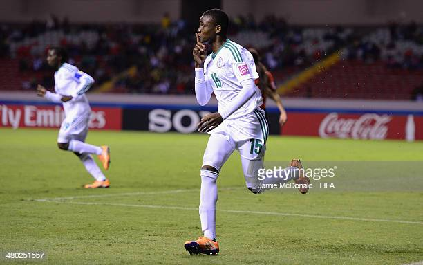 Uchenna Kanu of Nigeria celebrates her goal during the FIFA U17 Women's World Cup Group D match between Nigeria and Mexico at Estadio Nacional on...