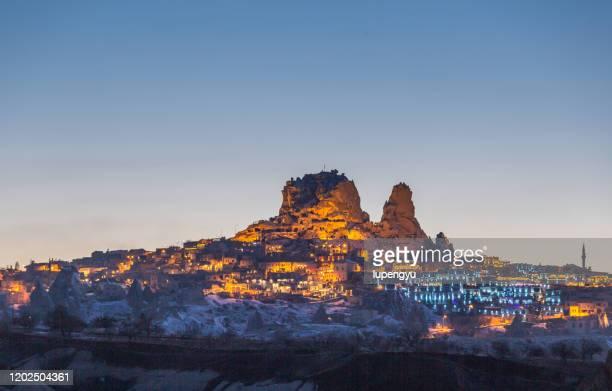 uchisar castle, göreme, cappadocia - カッパドキア ストックフォトと画像
