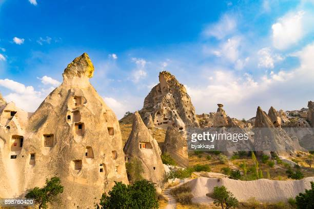 uchisar in cappadocia, turkey - anatolia stock pictures, royalty-free photos & images