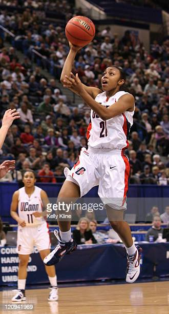 UConn Guard Charde Houston during the NCAA Tournament second round game at the Hartford Civic Center in Hartford Connecticut on March 20 2007