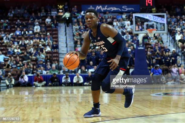 UConn Huskies forward Josh Carlton during a college basketball exhibition game between Providence Friars and UConn Huskies for the American Red Cross...