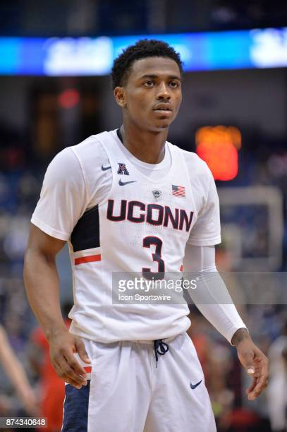 UConn Huskies Guard Alterique Gilbert during the game as the UConn Huskies host the Stony Brook Seawolves on November 14 2017 at the XL Center in...