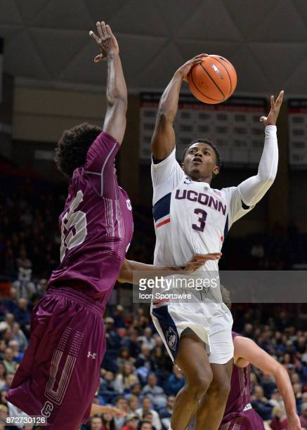 UConn Huskies Guard Alterique Gilbert shoot in the ball during the game as the UConn Huskies host the Colgate Raiders on November 10 2017 at the...