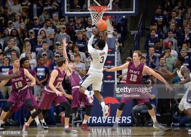 UConn Huskies Guard Alterique Gilbert shoots the open shot during the game as the UConn Huskies host the Colgate Raiders on November 10 2017 at the...