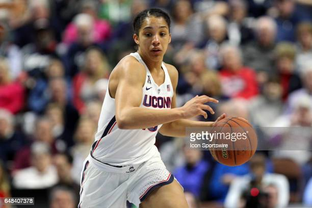 UConn Huskies guard Gabby Williams fast breaks during the first half the American Athletic Conference Women's semifinal game between UCF Knights and...