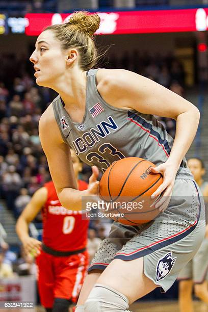 UConn Huskies Guard/Forward Katie Lou Samuelson in action during the first half a women's NCAA division 1 basketball game between the Houston Cougars...
