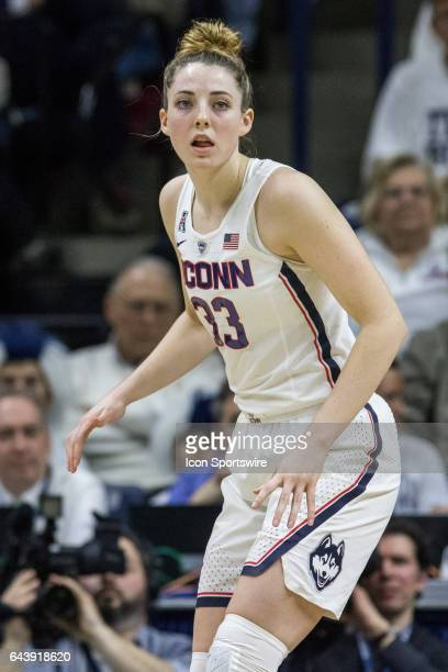 UConn Huskies Guard/Forward Katie Lou Samuelson was held to 6 points in a women's division 1 basketball game between 6th ranked University of South...