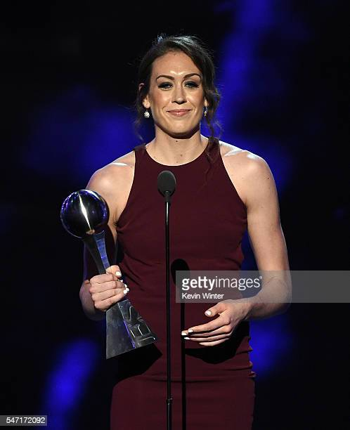 UConn Women's Basketball player Breanna Stewart accepts the Best Female Athlete award onstage during the 2016 ESPYS at Microsoft Theater on July 13...