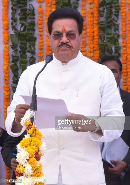 Udai Lal Anjana took oath at Raj Bhawan on December 24 2018 in Jaipur India