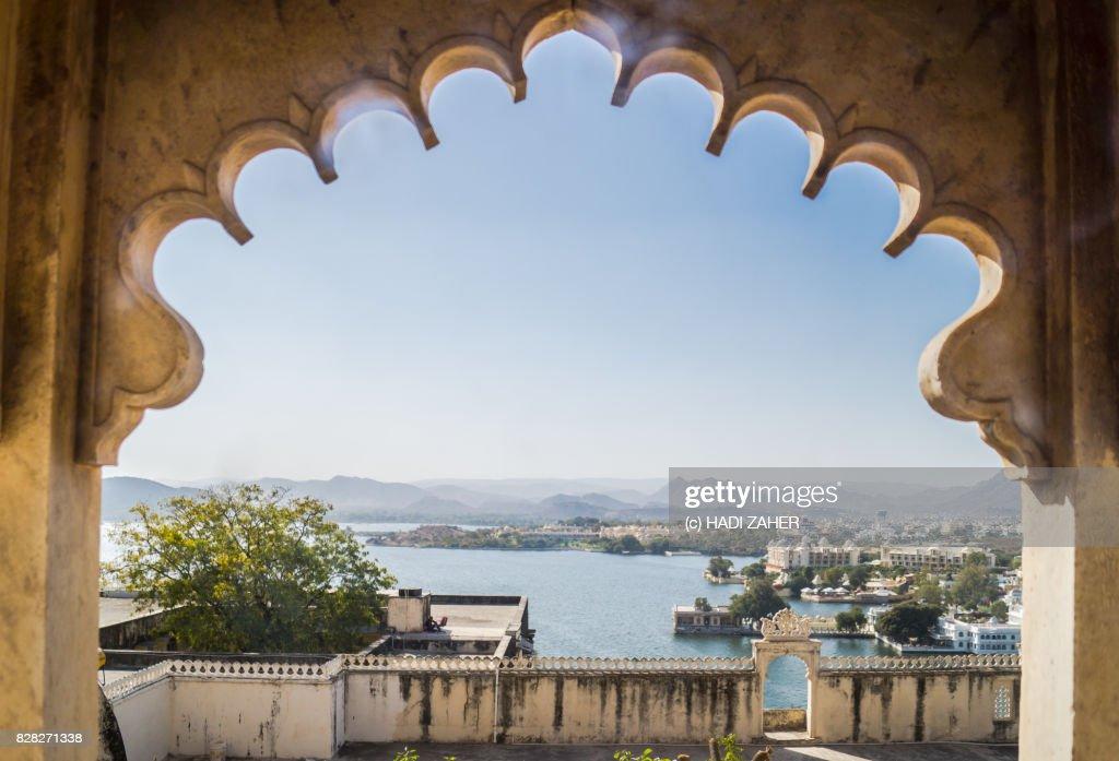 Udaipur City Palace and Lake Pichola   Rajasthan   India : Stock Photo