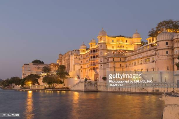 Udaipur City Palace at Rajasthan, India