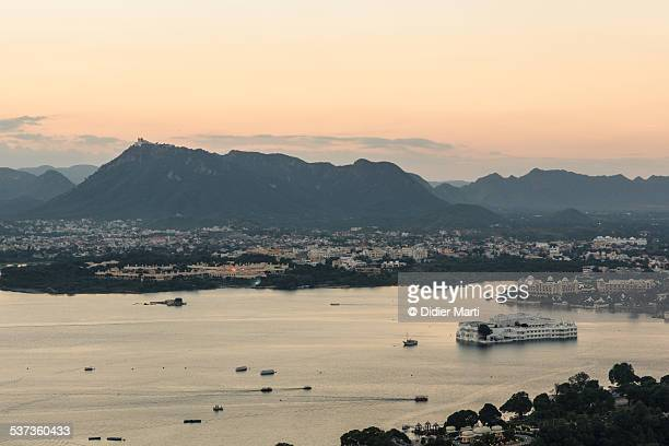 udaipur sunset - didier marti stock photos and pictures