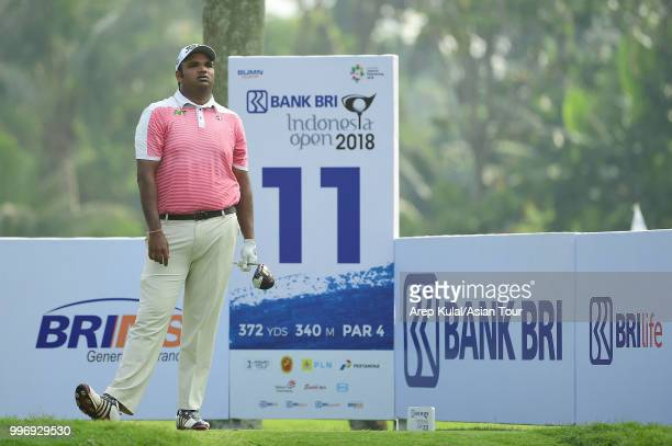 Udayan Mane of India pictured during the first round of the Bank BRI Indonesia Open at Pondok Indah Golf Course on July 12 2018 in Jakarta Indonesia
