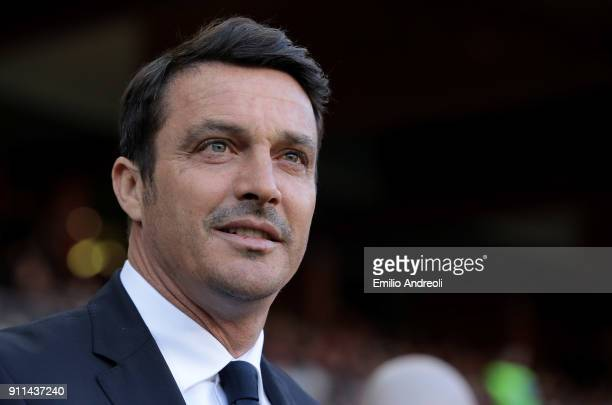 Udinese Calcio coach Massimo Oddo looks on before the serie A match between Genoa CFC and Udinese Calcio at Stadio Luigi Ferraris on January 28 2018...