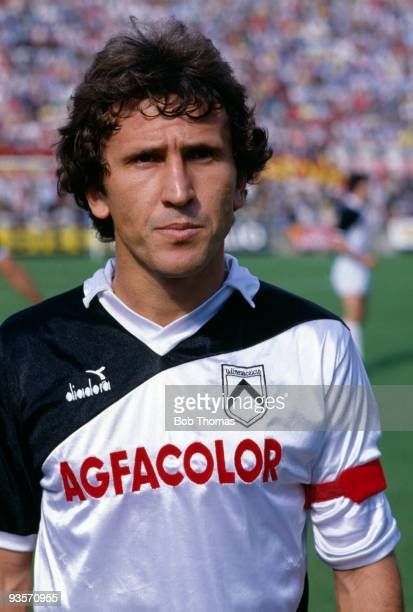 Udinese captain Zico before the Italian League match between AC Milan and Udinese held at San Siro Milan on 16th September 1984 The teams drew 22