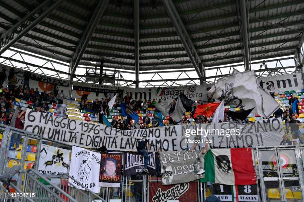 Udinese fan during the Serie A match between Frosinone Calcio and Udinese at Stadio Benito Stirpe on May 12 2019 in Frosinone Italy