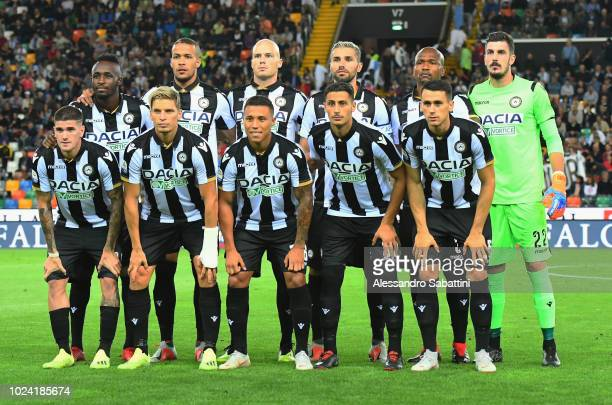 Udinese team before the serie A match between Udinese and UC Sampdoria at Stadio Friuli on August 26 2018 in Udine Italy