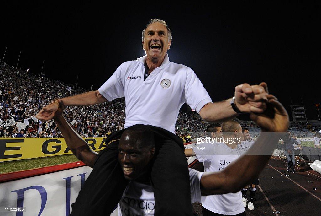 Udinese's coach Francesco Guidolin celeb : News Photo