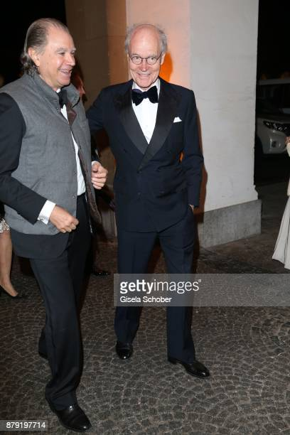 Udo Brandhorst and Alexander Apsis during the 80th birthday party of Roland Berger at Cuvillies Theatre on November 25 2017 in Munich Germany