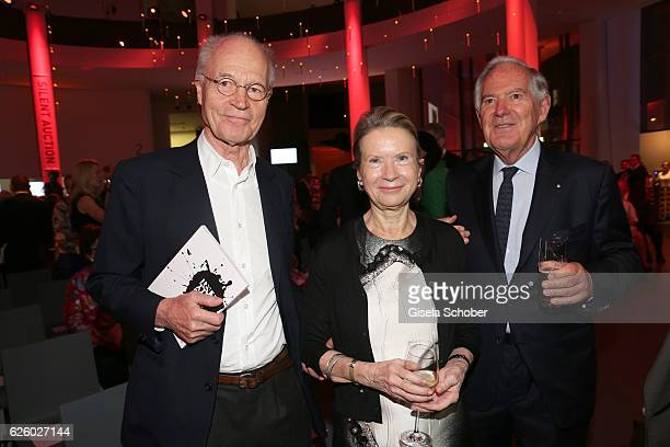 Udo Brandhorst Karin Berger and her husband Roland Berger during the PIN Party Let's party 4 art' at Pinakothek der Moderne on November 26 2016 in...
