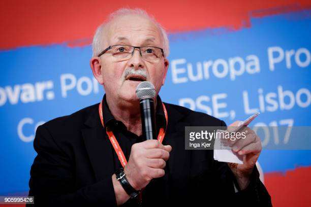 Udo Bullmann MEP and Vice President of the SD Group in the course of the PES party congress on December 02 2017 in Lisbon Portugal