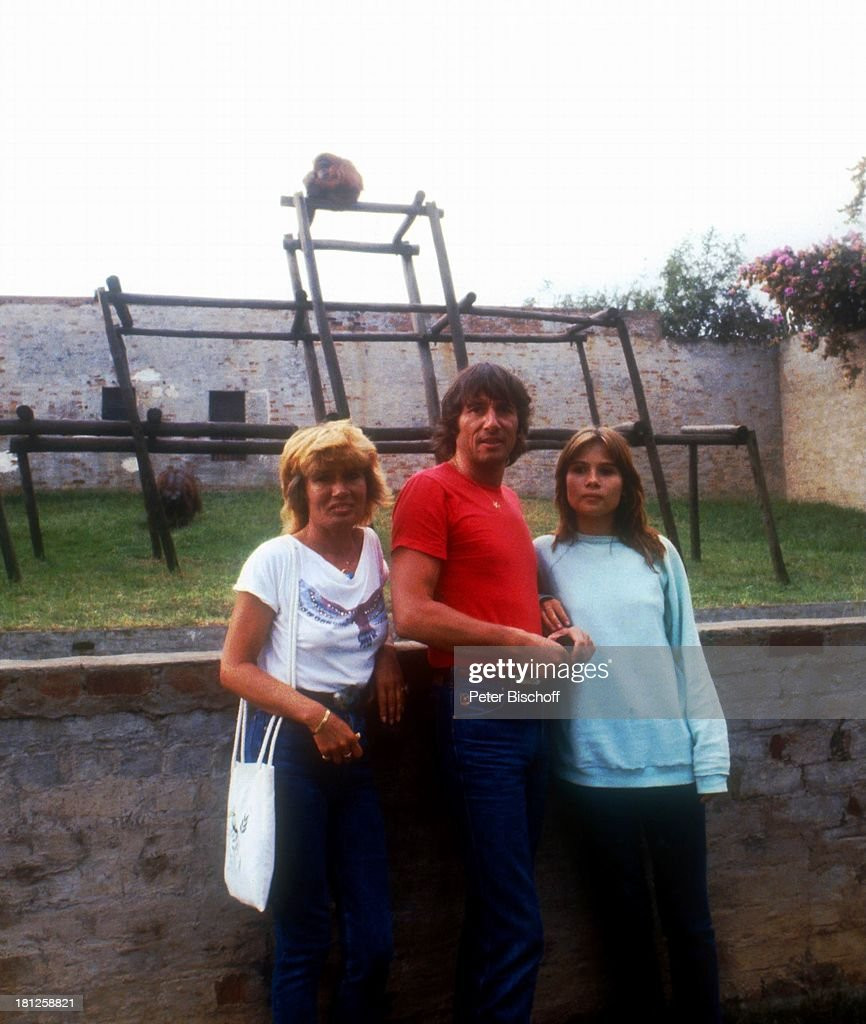 Udo Jürgens, Ehefrau Panja,Tochter Jenny, Zoo