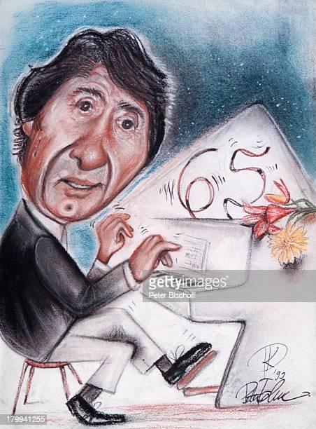 Udo Jürgens Karikatur zum 65 Geburtstag