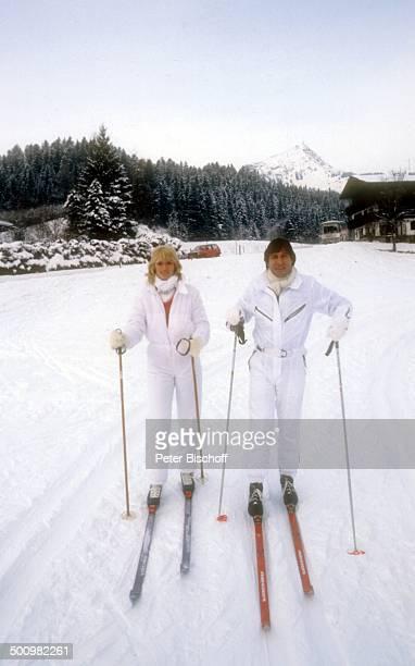 Udo Jürgens Lebensgefährtin Corinna Reinhold Urlaub Kitzbühel/Österreich Schlagersänger Sänger Skifahren Winter Schnee Promi Promis Prominente...