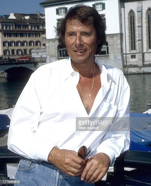 Udo Jürgens PK zur ZDF/ORF/SRGGeburtstagsshow Aber bitte mit Sahne zum 60 Geburtstag Zürich Schweiz Europa Show Boot See Sänger BB/RW PNr 680/1994