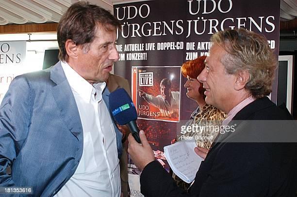 Udo Jürgens Reporter MDRInterview nach Verleihung 4 x Gold für CDJetzt oder nie Sampler Zeig mir den Platz an der Sonne Jubiläumsedition Aber bitte...