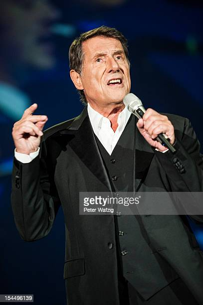 Udo Juergens performs on stage at the KoenigPilsenerArena on October 20 2012 in Oberhausen Germany