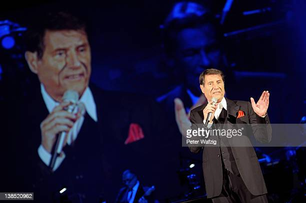 Udo Juergens performs on stage at the MitsubishiElectricHalle on February 08 2012 in Duesseldorf Germany