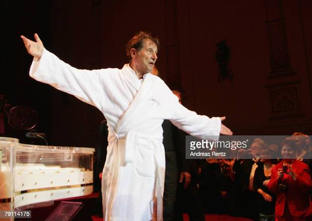Udo Juergens performs on stage at the Semper Opera Ball on January 18, 2008 in Dresden, Germany.