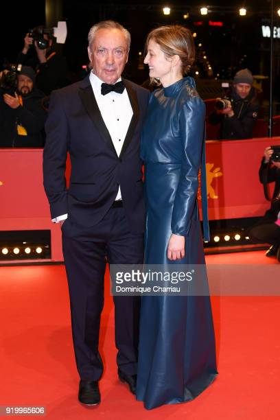 Udo Kier and Alba Rohrwacher attend the 'Daughter of Mine' premiere during the 68th Berlinale International Film Festival Berlin at Berlinale Palast...