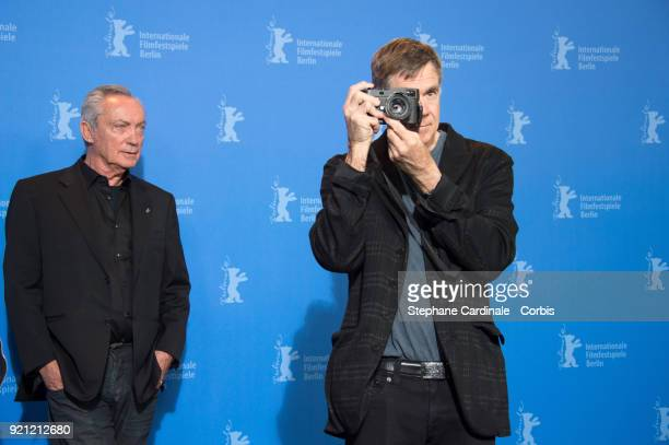 Udo Kier and Gus Van Sant pose at the 'Don't Worry, He Won't Get Far on Foot' photo call during the 68th Berlinale International Film Festival Berlin...