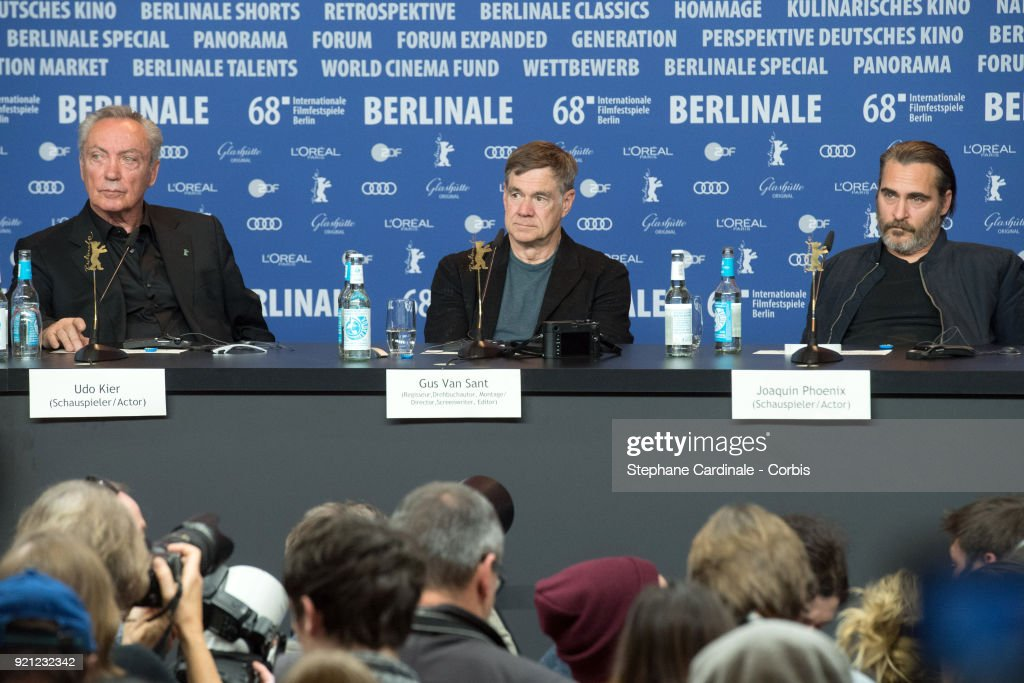 'Don't Worry, He Won't Get Far on Foot' Press Conference - 68th Berlinale International Film Festival : News Photo