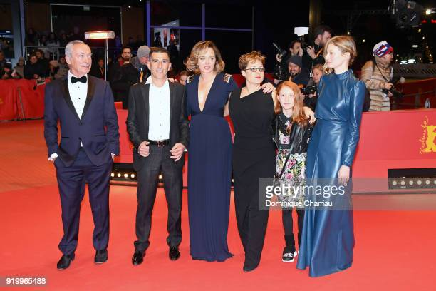 Udo Kier Michele Carboni Valeria Golino Laura Bispuri Sara Casu and Alba Rohrwacher attend the 'Daughter of Mine' premiere during the 68th Berlinale...